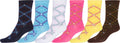 Sakkas Women's Fun Colorful Design Poly Blend Crew Socks Assorted 6-Pack#Color_Argyle Jewels