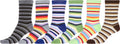 Sakkas Women's Fun Colorful Design Poly Blend Crew Socks Assorted 6-Pack#Color_Rainbow Stripes