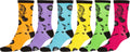 Sakkas Women's Fun Colorful Design Poly Blend Crew Socks Assorted 6-Pack#Color_Music
