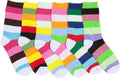 Sakkas Women's Fun Colorful Design Poly Blend Crew Socks Assorted 6-Pack#Color_Stripe