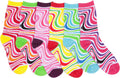 Sakkas Women's Fun Colorful Design Poly Blend Crew Socks Assorted 6-Pack#Color_Swirl