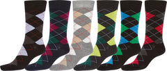 Sakkas Men's Classic Patterned Dress Socks Value 6-Pack