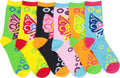 Sakkas Women's Fun Colorful Design Poly Blend Crew Socks Assorted 6-Pack#Color_Butterfly