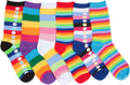 Sakkas Women's Fun Colorful Design Poly Blend Crew Socks Assorted 6-Pack#Color_Stripe Dot