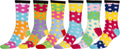 Sakkas Women's Fun Colorful Design Poly Blend Crew Socks Assorted 6-Pack#Color_Color Dot