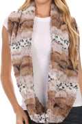 Sakkas Ester Super Soft Faux Fur Mink Infinity Scarf Casual and Effortless#color_YC16100-Cream