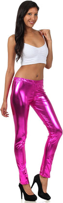 Sakkas Footless Liquid Wet Look Shiny Metallic Stretch Leggings