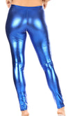 group-Royal Blue (Sakkas Footless Liquid Wet Look Shiny Metallic Stretch Leggings)