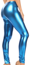 group-Turquoise (Sakkas Footless Liquid Wet Look Shiny Metallic Stretch Leggings)