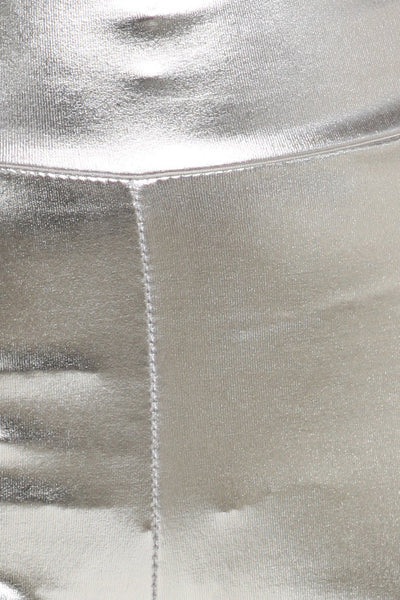 group-Silver (Sakkas Shiny Liquid Metallic High Waist Stretch Leggings - Made in USA)