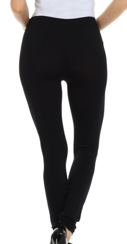 Sakkas Basics Solid Color Leggings