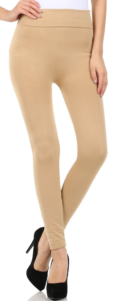 Sakkas Warm Soft Faux Fur Lined High Waist Leggings