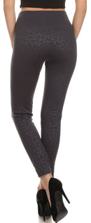 Sakkas Women's Patterned Soft Fleece Lined High Waist Leggings