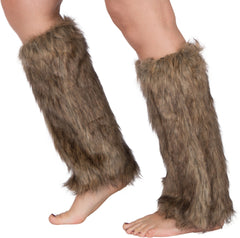 Sakkas Noelle Faux Fur Leg Warmers Boot Covers