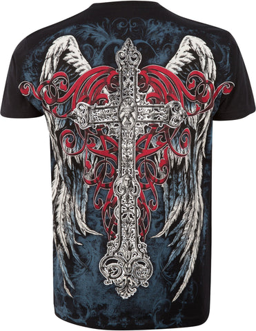 Sakkas Angel Five Metallic Embossed Mens Fashion T-Shirt