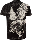 Sakkas Noble Eagle Metallic Embossed Mens Fashion T-Shirt
