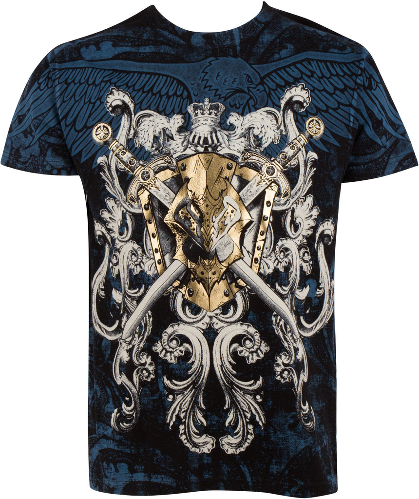 Sakkas Kings Glory Metallic Embossed Mens Fashion T-Shirt