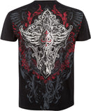 Sakkas Saints Glory Metallic Embossed Mens Fashion T-Shirt