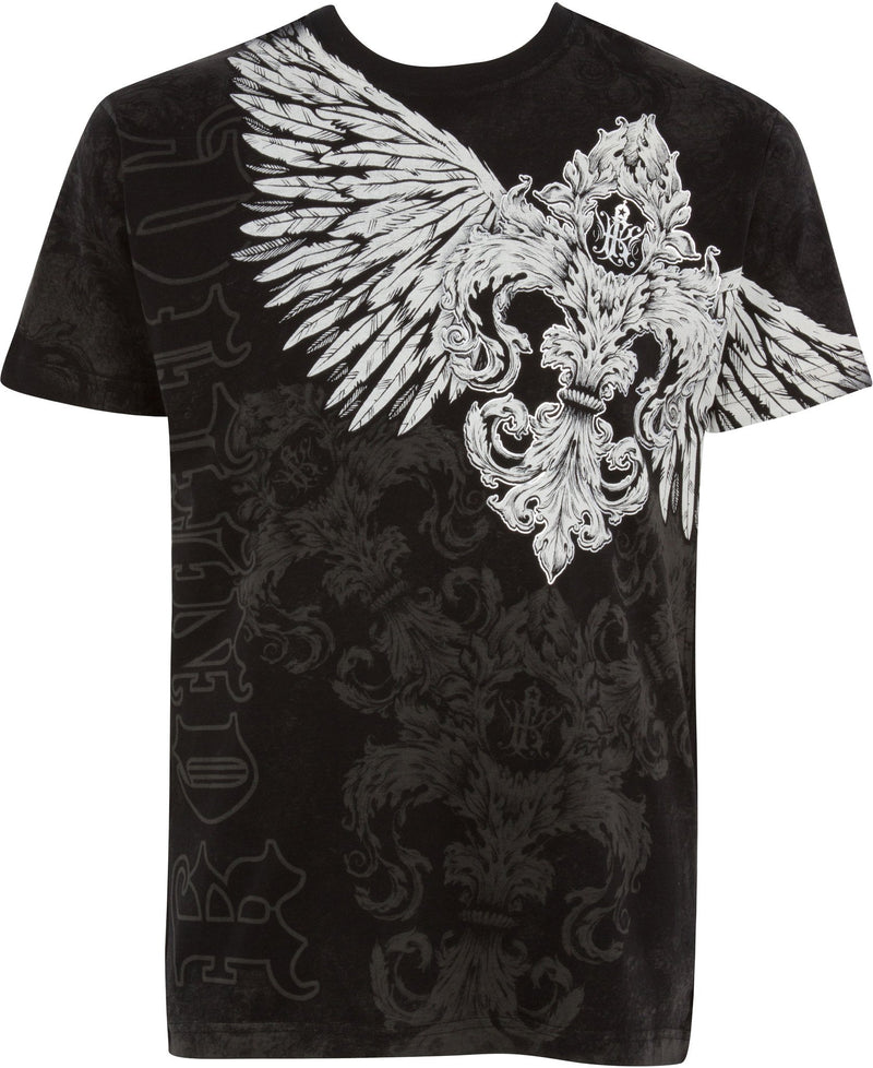 Sakkas Kevin Eagle Wide Wing Printed Mens T-Shirt