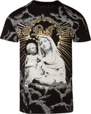 Sakkas Liam Mens Everyday Short Sleeve Cotton Embossed T-shirt Virgin & Baby Jesus