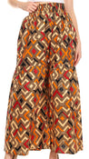 group-27-Multi (Sakkas Esme Women's African Ankara Flared Wide Leg Palazzo Pants with Pockets)