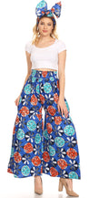 group-42-Multi (Sakkas Esme Women's African Ankara Flared Wide Leg Palazzo Pants with Pockets)