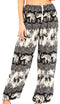 Sakkas Akilla Women's Loose Printed Yoga Elephant Pants Elastic Waist w/Pocket#color_E-Black
