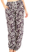 Sakkas Akilla Women's Loose Printed Yoga Elephant Pants Elastic Waist w/Pocket#color_Purple