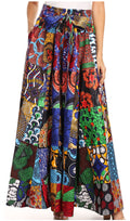 Sakkas Sora Women's Wide Leg Loose African Ankara Print Pants Casual Elastic Waist#color_412-multi/tribal
