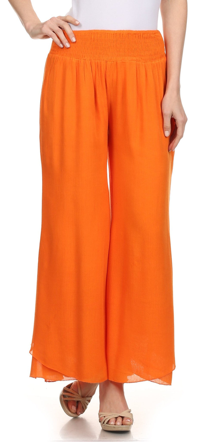 Sakkas Blaire Classic Flare Wide Leg Palazzo Beach Pant
