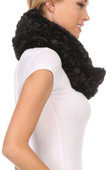 Sakkas Mellah Long Wide Soft Fuzzy Furry Fur Infinity Fall Winter Wrap Scarf