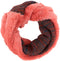 Sakkas Sele Short Two Textured Faux Fur Ribbed Knit Mixed Designed Infinity Scarf