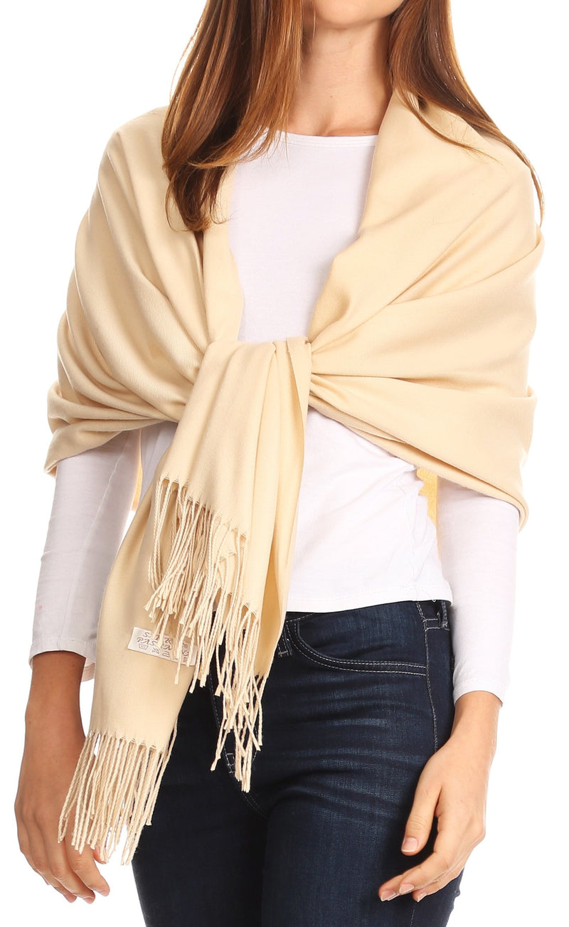 Sakkas Iris Warm Super Soft Cashmere Feel Pashmina Shawl  / Scarf with Fringes
