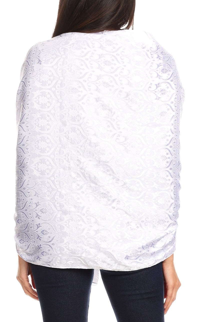 Sakkas Litta Women's Brocade Evening Shawl Wrap Head Scarf Large Soft Wedding