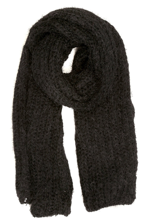 Sakkas Grecia Women's Solid Long Extra Soft Textured Winter Scarf