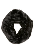 Sakkas Abhy  Soft Fall Winter Furry Infinity Wrap Scarf#color_ 1-Black
