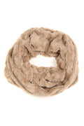 Sakkas Abhy  Soft Fall Winter Furry Infinity Wrap Scarf#color_ 1-Taupe