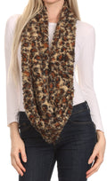 Sakkas Abhy  Soft Fall Winter Furry Infinity Wrap Scarf#color_ 2-Caramel