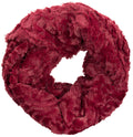 Sakkas Abhy  Soft Fall Winter Furry Infinity Wrap Scarf#color_ 5-Cranberry