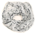 Sakkas Abhy  Soft Fall Winter Furry Infinity Wrap Scarf#color_ 6-Black