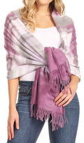 Sakkas Martinna Women's Winter Warm Super Soft and Light Pattern Shawl Scarf Wrap#color_Purple