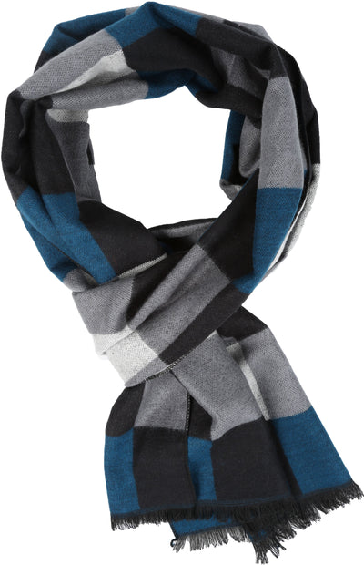 group-YC16131-Navy (Sakkas Amerigo Patterned Colorful Super Soft and Warm Casual Everyday Scarf Unisex)