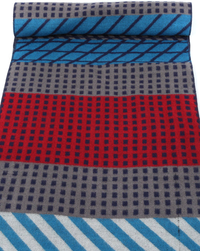 group-YC16132-Rednavy (Sakkas Amerigo Patterned Colorful Super Soft and Warm Casual Everyday Scarf Unisex)