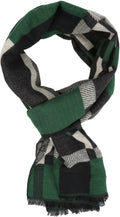Sakkas Amerigo Patterned Colorful Super Soft and Warm Casual Everyday Scarf Unisex#color_YC16134-Green