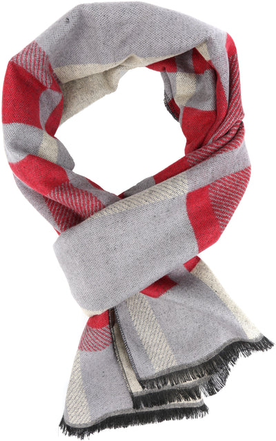group-YC16134-Red (Sakkas Amerigo Patterned Colorful Super Soft and Warm Casual Everyday Scarf Unisex)