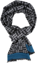 Sakkas Amerigo Patterned Colorful Super Soft and Warm Casual Everyday Scarf Unisex#color_YC16136- Black