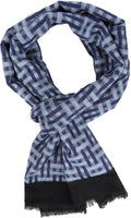 Sakkas Amerigo Patterned Colorful Super Soft and Warm Casual Everyday Scarf Unisex#color_YC16136-Blue