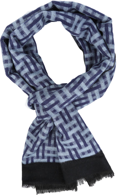 group-YC16136-Blue (Sakkas Amerigo Patterned Colorful Super Soft and Warm Casual Everyday Scarf Unisex)