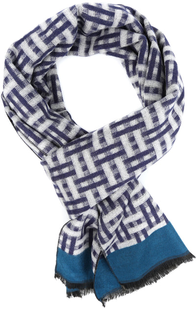 group-YC16136-Navy (Sakkas Amerigo Patterned Colorful Super Soft and Warm Casual Everyday Scarf Unisex)