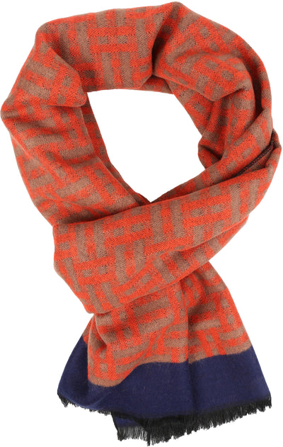 group-YC16136-Red (Sakkas Amerigo Patterned Colorful Super Soft and Warm Casual Everyday Scarf Unisex)